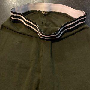 Forever 21 Pants & Jumpsuits - Forever 21 Olive Green Stripe High-Waist Leggings